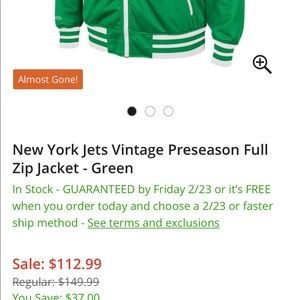 da5002fa SALE 🛑NY Jets throwback zip up